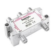SAT Distributor, 4 Way, Fully Shielded